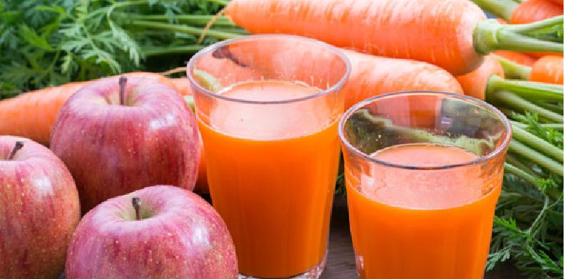 ニンジンとりんごのジュース最強の組み合わせ食品