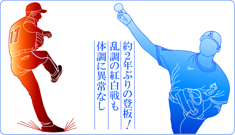 約2年ぶりの登板!大谷翔平投手!