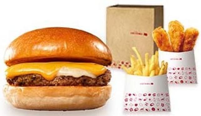 ▼「チー」パックパック」のチーズバーガーの写真