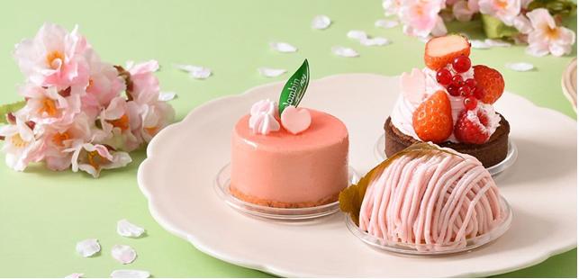 コロンバン「桜のモンブラン」 桜餅みたいなケーキ、スイーツ桜フェア開催!